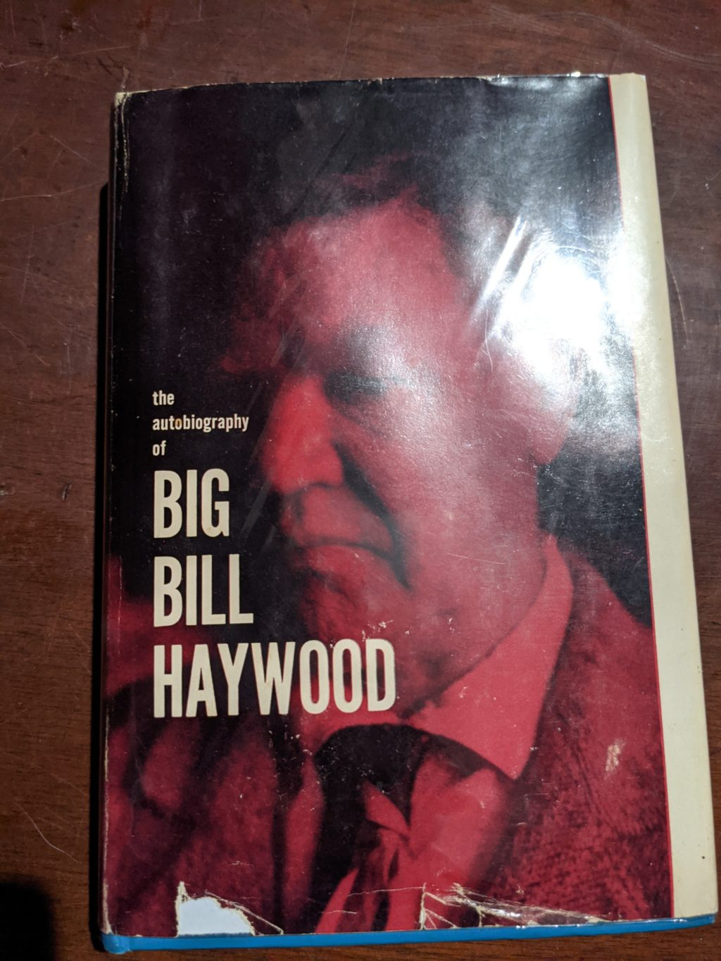 Photo of the cover of Bill Haywood's autobiography